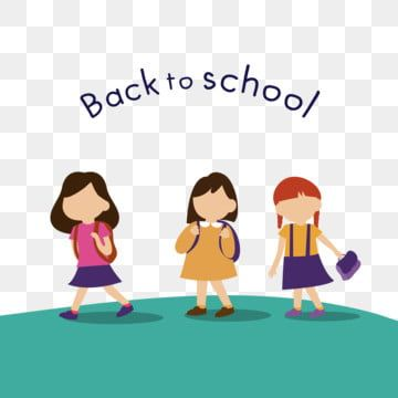 Back To School With Children Child Education School Png And Vector With Transparent Background For Free Download Back To School Back To School Art Kids Doodles
