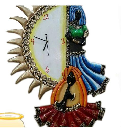 Unique Indian Crafts Hand Made Designer Wooden Wall Clock Uic L3 139