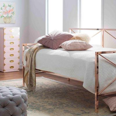 Rose Gold Metal Daybed Rose Gold Bedroom Rose Gold Furniture Glam Bedroom