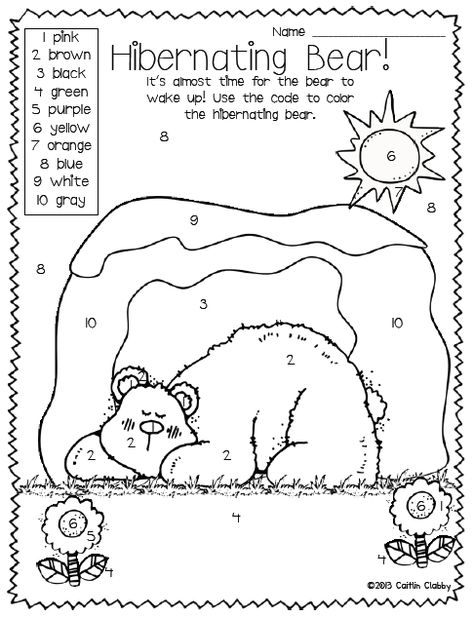 All About Bears: (have a hibernating day at school)