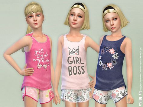 The Sims 4 Summer Print Top & Shorts 02 Sims 4 Cas, My Sims, Sims Cc, Sims 4 Cc Kids Clothing, Sims 4 Mods Clothes, Toddler Denim Dress, Sims 4 Dresses, Party Dresses, Sims 4 Children