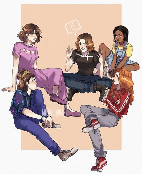 Stranger Things Girls by MILKYWAYMAI, Season 3, fanart, fan art