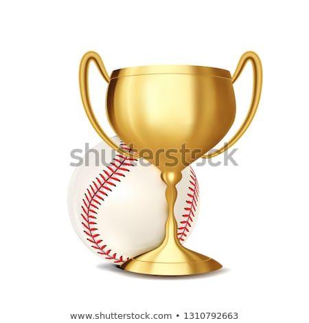Baseball Award Vector Baseball Ball Golden Cup Sports Game Event Announcement Baseball Banner Advertising Baseball Banner Baseball Award Sports Invitations