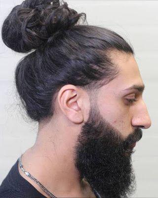 Peinados Con Cabello Largo Para Hombres Man Bun Haircut Man Bun Hairstyles Men Long Hair Bun