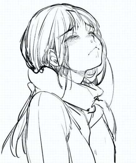 Trendy How To Draw A Girl Crying Design Reference Ideas Anime Sketch Anime Drawings Anime Hands