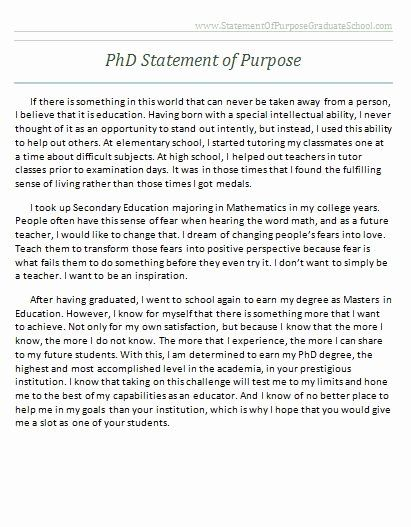Statement Of Academic Goals Inspirational Successful Sample Statement Of Purpose For Graduate School Graduate School Personal Statement Examples School Essay