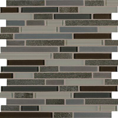 Pixl Viva Linda 1 X 2 Glass Mosaic Tile Color Evening Blend Mosaic Wall Tiles Mosaic Glass Crossville