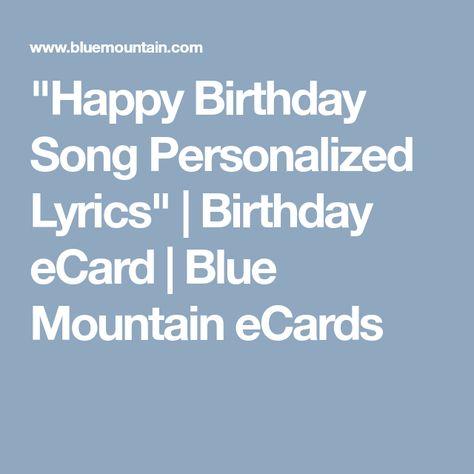 Happy Birthday Song Personalized Lyrics