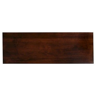 laurent hall stand chocolate brown cherry finish leick furniture