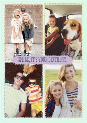 Stitched Together Personalised Photo Upload Happy Birthday Cardonce You Ve Personalised Your Card Or Uploaded A Photo And Used The Handwriting Sponse Ad