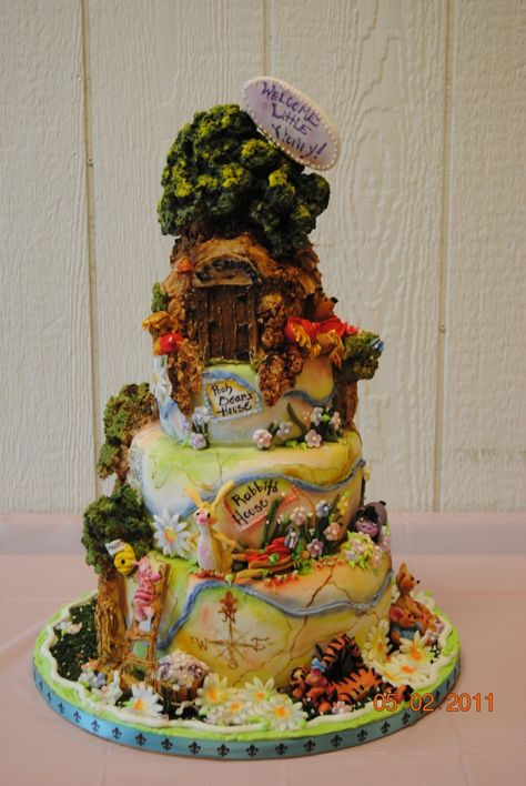 Alex Keating posted 100 Acre Wood Cake (Winnie the Pooh, Christopher Robbin) to his -dessert time!