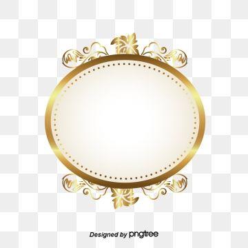 Golden Circle Frame The Flowers Patterns Png And Vector With Transparent Background For Free Download Circulo De Ouro Molduras Redondas Molduras Douradas