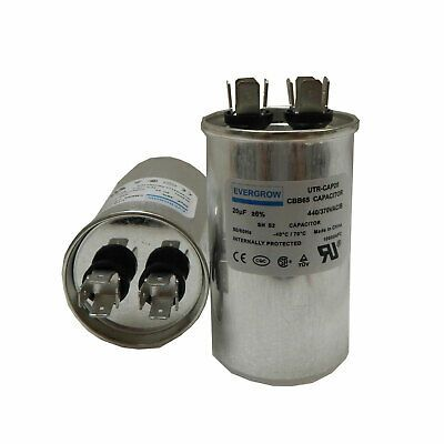 20 Uf Mfd 370v 440v Vac Oil Filled Round Motor Run Capacitor Cbb65 Ebay Capacitors Oils Ebay