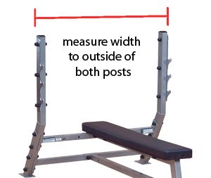 How To Measure What Length Of Barbell You Need The Bar S Shoulders Need To Fit Outside Of The Rack S Holders Barbell Gym Rat Garage Gym