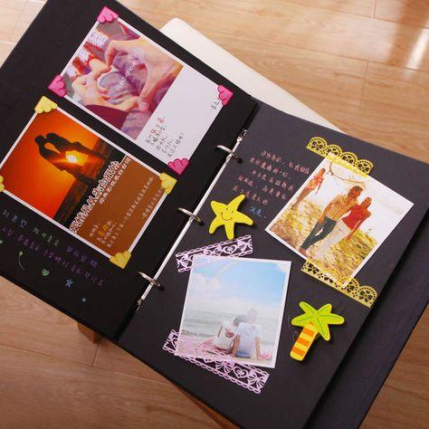 10inch ParisTower Perfect Binding Diy Photo Albums De Fotos Scrapbooking Baby Gift Handmade Children Photo Album De Fotografia