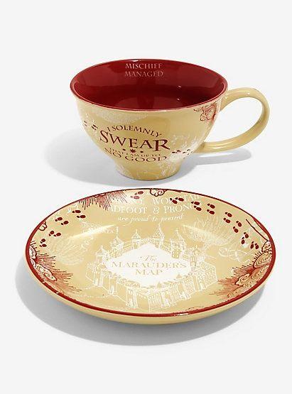 Harry Potter Marauder S Map Teacup Saucer Tea Cups Harry Potter Marauders Map Tea Cup Saucer