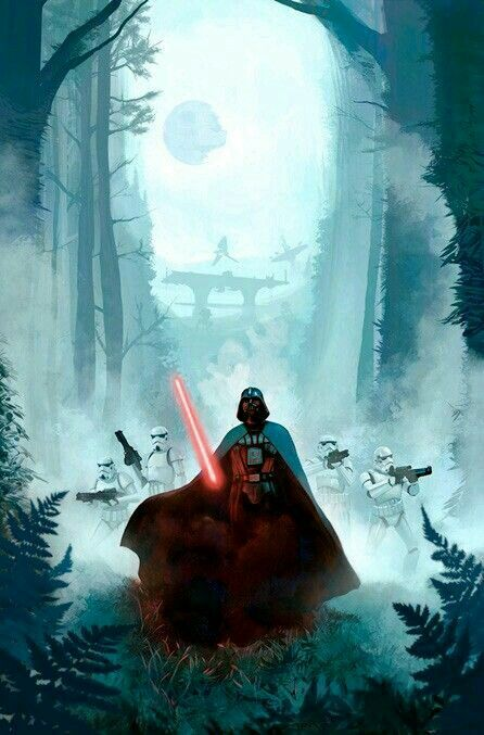 Imperial War Machine Endor Star Wars Poster Star Wars Sith Star Wars Painting