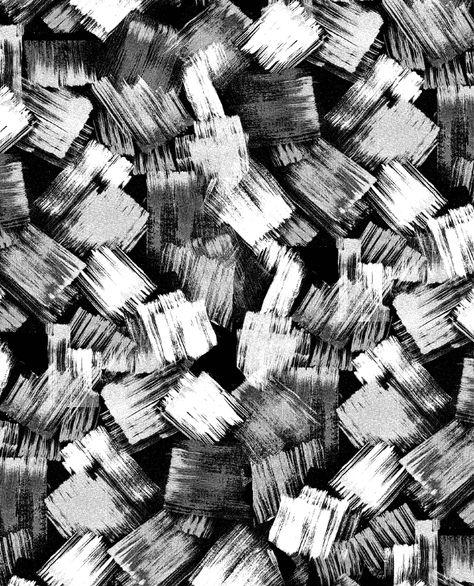 Monochrome Pattern - modern print design with abstract brushstroke pattern // Marisa Hopkins
