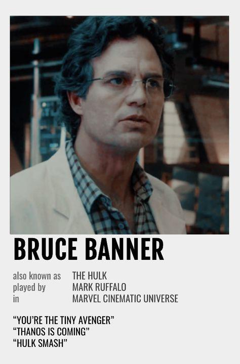Bruce Banner Polaroid Poster