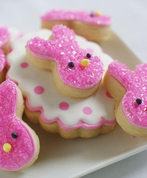 Pink Bunny Cookies