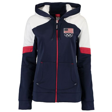 Women's Navy Team USA Olympic Full-Zip Jacket