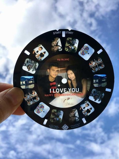 Lovely RetroViewer Anniversary Reels Lovely RetroViewer Anniversary Reels A unique one year anniversary gift<br> One Year Gift, Anniversary Gift Ideas For Him Boyfriend, Second Year Anniversary Gift, Dating Anniversary Gifts, Homemade Anniversary Gifts, Unique Anniversary Gifts, Anniversary Photos, Wedding Anniversary, Cute Anniversary Ideas