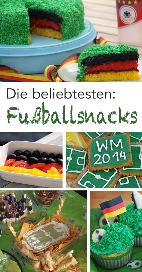 Fussball Snacks Ideen Fur Eure Wm Party Fussball Snacks