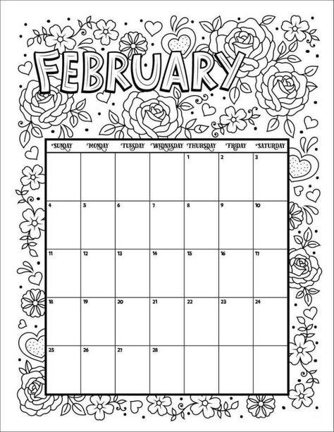 18 Ide Top 20 Calendar Coloring Pages Gambar Buku Mewarnai Kalender