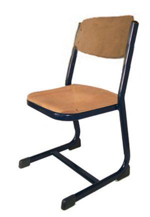 Schulmöbel, Schulstuhl mit S-Kufe