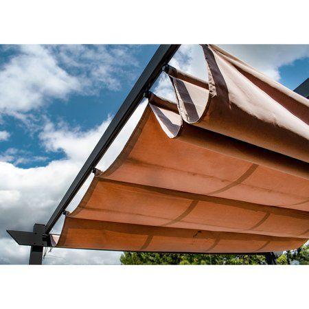 Aleko Aluminum Outdoor Canopy Grape Trellis Pergola 9 X 9 Ft Sand Color Walmart Com In 2020 Pergola Canopy Aluminum Pergola Canopy Outdoor