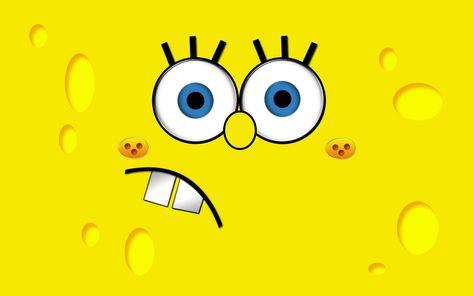 HD wallpaper: SpongeBob, background, yellow, teeth