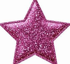 Pink Glitter Star Stickers Bing Images Stars Barbie Images Clip Art