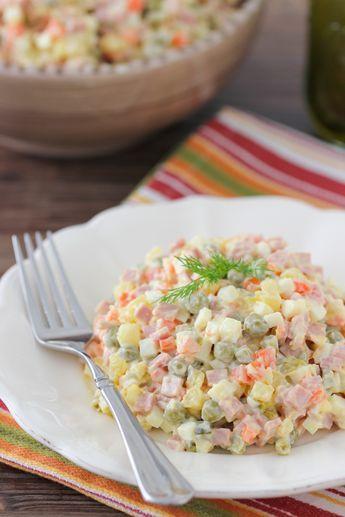 Russian Salad Olivie Recette Recette Russe Cuisine Russe Et