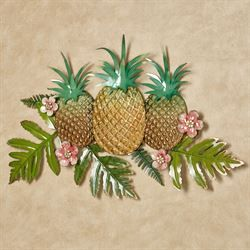 Pineapple Splendor Wall Art Gold Tropical Metal Wall Art Tropical Bedroom Decor Tropical Home Decor