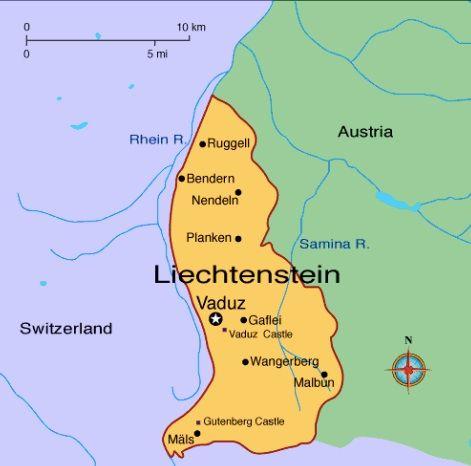 Best Liechtenstein Images On Pinterest Austria Switzerland - Liechtenstein maps with countries