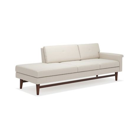 True Modern Diggity One Arm Sofa With Chaise 1 760 Liked On