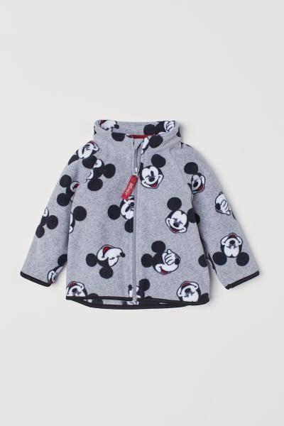 Wzorzysta Bluza Z Polaru Szary Melanz Myszka Miki Dziecko H M Pl Fleece Jacket Pattern Girls Clothes Shops Kids Clothing Websites