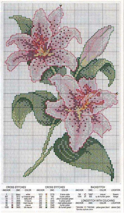 Cross and Lillies Cross Stitch kit