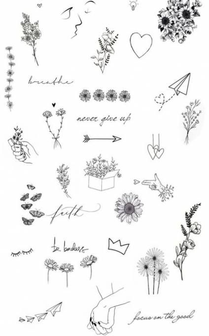 73 Cute And Inspirational Small Tattoos With Meanings Fashion Feed Doodle Tattoo Tattoos Finger Tattoos