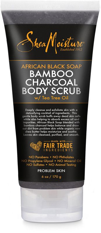 Sheamoisture African Black Soap Bamboo Charcoal Scrub Ulta Beauty Shea Moisture Products African Black Soap Cold And Cough Remedies