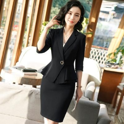 New business women's office suit skirt with Half sleeves