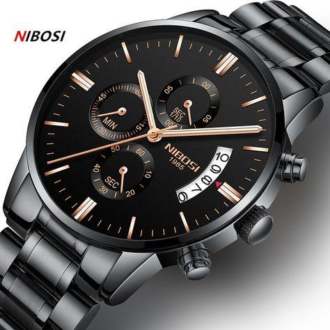 NIBOSI Relogio Masculino Men Watches Luxury Famous Top Brand