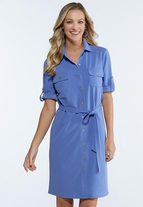 Plus Size Tie Waist Shirt Dress Plus Sizes Cato Fashions in 2019 ...