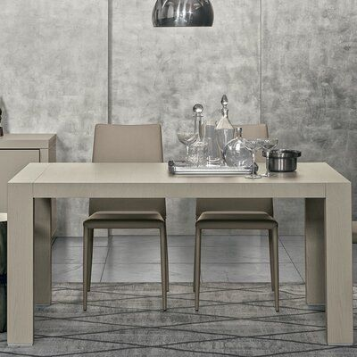 Yumanmod Doppio Passo Extendable Dining Table Color Gray Open