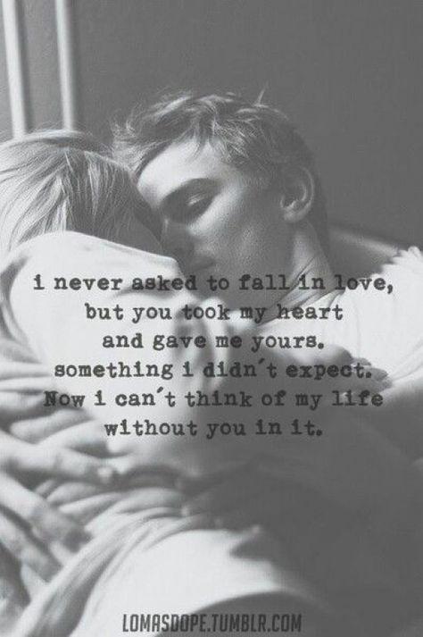 Jag har sagt det tidigare men är fortfarande lika förundrad över hur du tog hela mitt hjärta bara så där utan förvarning. I gengäld fick jag ditt det största och finaste du kunde ge mig #lovequotes #love #quotes #for #boyfriend