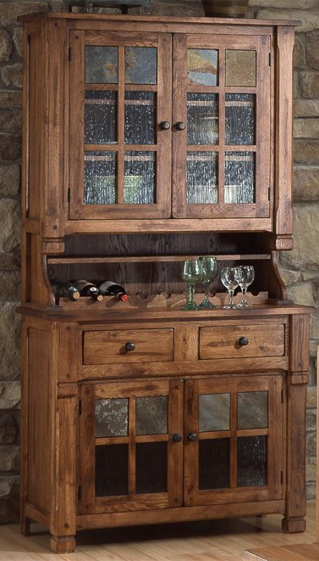 Sunny Designs Sedona Rustic Oak China Buffet Hutch Furniture And Liancemart Cabinet Stevens Point Rhinelander Wausau De Pe