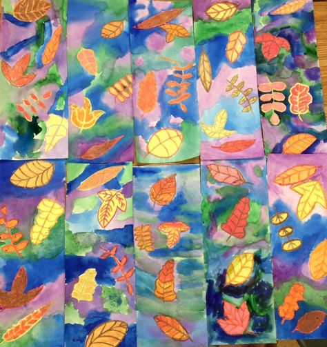 Art Teacher In La K 6th Grade Art Lessons Watercolor Fall