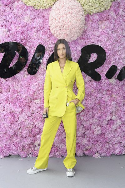 Bella Hadid attends the Dior Homme Menswear Spring/Summer 2019 show as part of Paris Fashion Week.