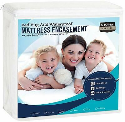 Twin Utopia Bedding Waterproof Bamboo Mattress Protector Fitted Mattress Cover