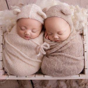 Knitted Bonnet Alpaca Newborn Baby Photography Props